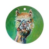 Alpaca IX - Ornament (Round)