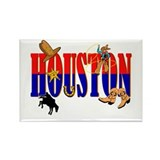 Houston Rectangle Magnet (10 pack)