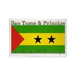 Sao Tome & Principe Rectangle Magnet (10 pack)