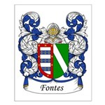 Fontes Family Crest Small Poster