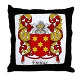 Freitas Family Crest Throw Pillow