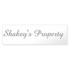 Shakey's Property Bumper Sticker (10 pk)