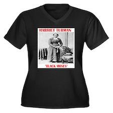 Cute Harriet tubman Women's Plus Size V-Neck Dark T-Shirt