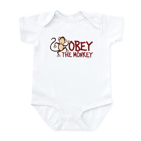 Obey The Monkey Infant Bodysuit