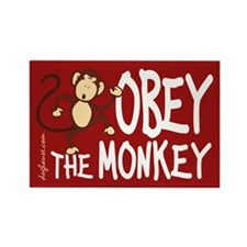 Obey The Monkey Rectangle Magnet (10 pack)
