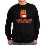Beer Helping Men Fish Sweatshirt (dark)