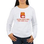 Beer Helping Men Fish Women's Long Sleeve T-Shirt