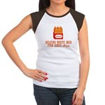 Beer Helping Men Fish Women's Cap Sleeve T-Shirt