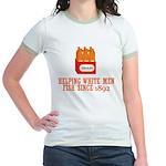 Beer Helping Men Fish Jr. Ringer T-Shirt