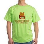 Beer Helping Men Fish Green T-Shirt