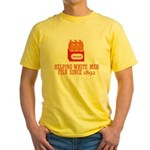 Beer Helping Men Fish Yellow T-Shirt