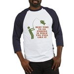 Best Time To Fish Baseball Jersey