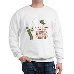 Best Time To Fish Sweatshirt