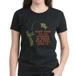 Best Time To Fish Women's Dark T-Shirt