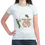 Best Time To Fish Jr. Ringer T-Shirt