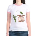 Best Time To Fish Jr. Ringer T-Shirt