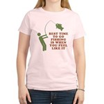 Best Time To Fish Women's Light T-Shirt