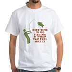 Best Time To Fish White T-Shirt