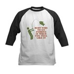 Best Time To Fish Kids Baseball Jersey