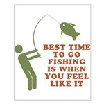 Best Time To Fish Small Poster