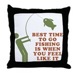 Best Time To Fish Throw Pillow