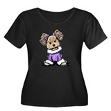 Purple Yorkie Cutie Women's Plus Size Scoop Neck D