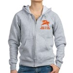 Born To Fish Women's Zip Hoodie
