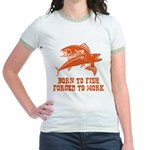 Born To Fish Jr. Ringer T-Shirt