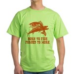 Born To Fish Green T-Shirt