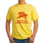 Born To Fish Yellow T-Shirt