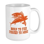 Born To Fish Large Mug