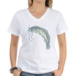 Catfish Women's V-Neck T-Shirt