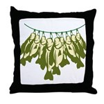 Caught Crappies Throw Pillow