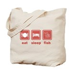 Eat Sleep Fish Tote Bag