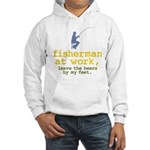 Fisherman At Work Hooded Sweatshirt
