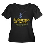 Fisherman At Work Women's Plus Size Scoop Neck Dar