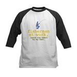 Fisherman At Work Kids Baseball Jersey