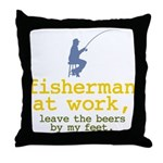 Fisherman At Work Throw Pillow