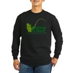 Fishing & Beer Long Sleeve Dark T-Shirt
