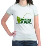 Fishing & Beer Jr. Ringer T-Shirt