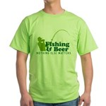 Fishing & Beer Green T-Shirt