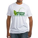 Fishing & Beer Fitted T-Shirt