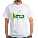 Fishing & Beer White T-Shirt