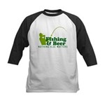 Fishing & Beer Kids Baseball Jersey