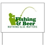 Fishing & Beer Yard Sign