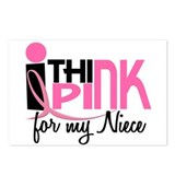 I Think Pink For My Niece 1 Postcards (Package of