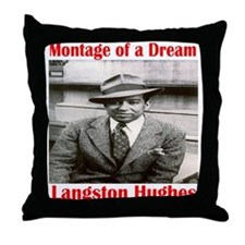 Langston Hughes Throw Pillow