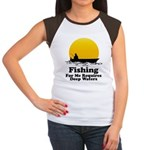 Fishing Requires Deep Water Women's Cap Sleeve T-S