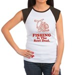 Fishing Is The Real Deal Women's Cap Sleeve T-Shir