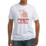 Fishing Is The Real Deal Fitted T-Shirt